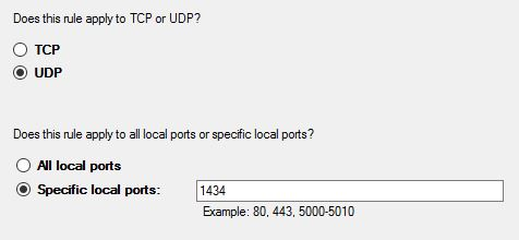 Port Type UDP